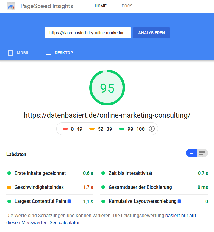 PageSpeedInsights